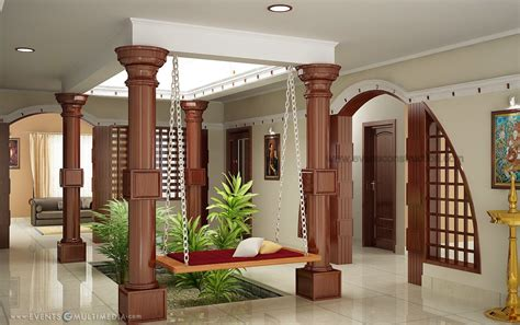 House Design Kerala Traditional Naduthalam Interior Home