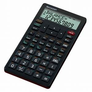 NEW Sharp Financial Calculator 2 Line LCD Display Built In