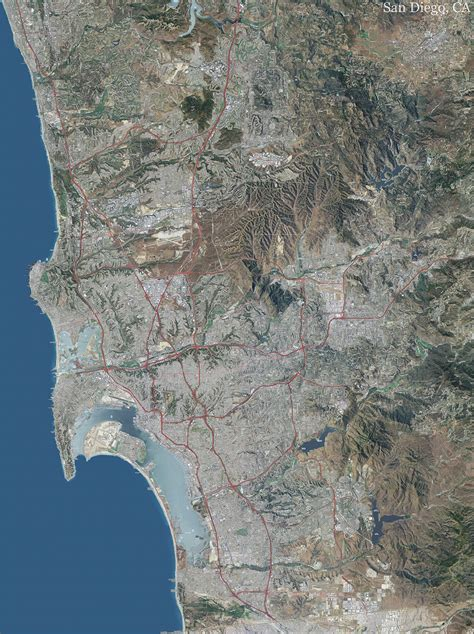 san diego topo map  aerial photography