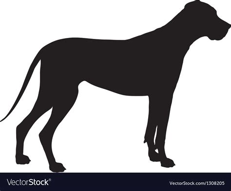 All great dane breed silhouette decal cricut cutting plus eps/vector cuttable designs download free image lover outline instant files studio frames. Great Dane Silhouette Royalty Free Vector Image