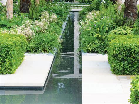 water rill design rills narrow garden canals hgtv