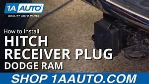 How To Install Dodge Ram Trailer Hitch Receiver Plug