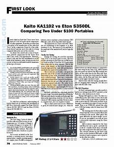 Download Free Pdf For Eton S350dl Radio Manual