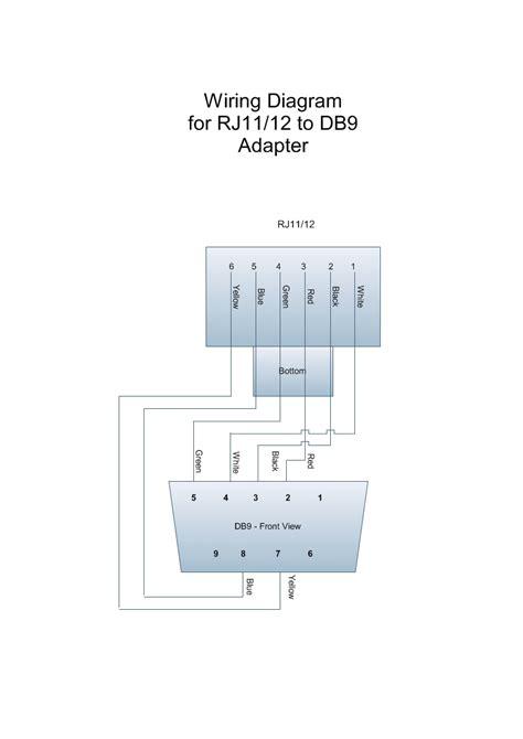 wiring diagram  rj db adapter