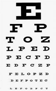 eye chart vision test With vision letter chart