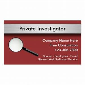 Private investigator business cards zazzle for Investigator business cards