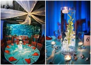 aquarium wedding venues jacqueline kevin s blue and beautiful aquarium wedding poptastic funky wedding ideas