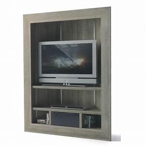 Meuble Tv Etagere : meuble tv haut gris ~ Teatrodelosmanantiales.com Idées de Décoration