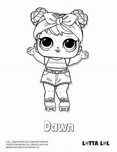 Lol Coloring Doll Dawn Pages Dolls Confetti