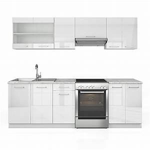 Küchenzeile Hochglanz Weiß : k che 240 cm k chenzeile k chenblock einbauk che weiss hochglanz m bel24 k chen ~ Orissabook.com Haus und Dekorationen