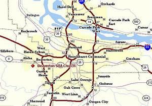 Portland Metro Map - HolidayMapQ.com