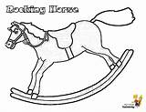 Coloring Christmas Horse Pages Rocking Jolly Toys Yescoloring sketch template