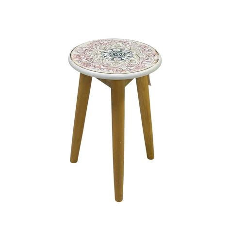 Hocker Vorlage Rund by Hocker Remember Rund Mit Paisley Muster Pharao24 De