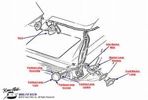 1969 Corvette Parking  U0026 Marker Lamps Parts