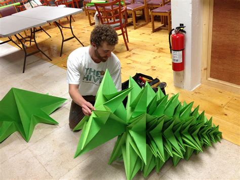 large paper christmas tree 1000 origami fish and you goodmorninggloucester