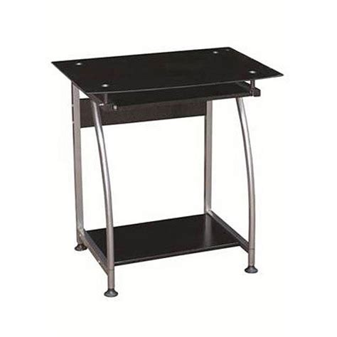 Glass Corner Desk Walmart by Clear Glass Corner Computer Desk With Monitor Stand