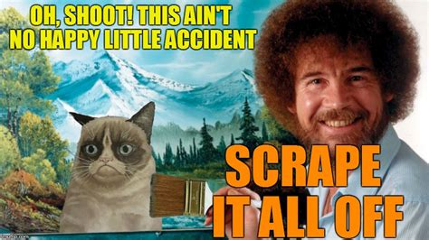 Bob Ross Week Featuring Grumpy Cat
