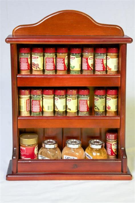 Timber Spice Rack by Wooden Spice Rack Crown 3 Tiers 24 Herb And Spice Jars