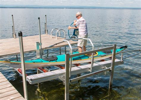 Folding Boat Lift by Adjustable Kayak Launch Lift For Docks