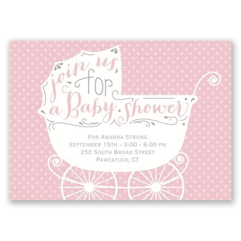 baby carriage mini baby shower invitation invitations