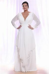 plus size wedding dresses with sleeves dressed up girl With long plus size wedding dresses