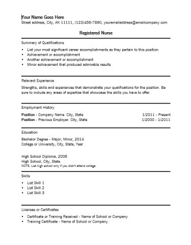 nursing resume template word registered resume template