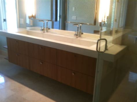 concrete trough sink contemporary bathroom wilmington by bluewater surfaces