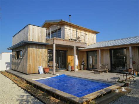 maison ossature bois maison bois c 244 te atlantique en bois en kit