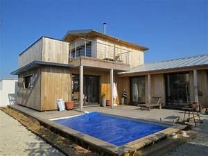 Ossature Bois Maison : photo maison ossature bois maison bois c te atlantique ~ Melissatoandfro.com Idées de Décoration