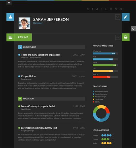 this flat theme is for resumes