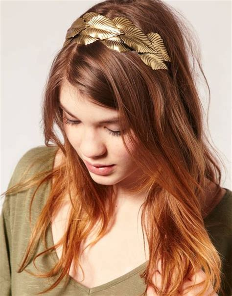 metal hair style asos collection asos grecian style leaf metal hair band in 4871