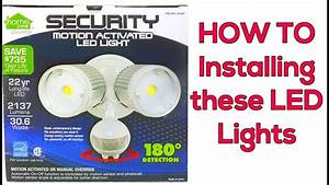 Installing A Motion Detector Led Light
