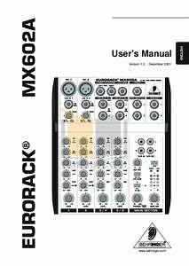 Download Free Pdf For Behringer Eurorack Mx1604a Mixers