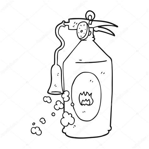 Brandweerhelm Kleurplaat by Black And White Extinguisher Stock Vector