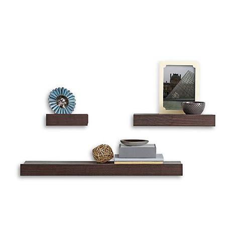 Is is easy to keep your house tidy with our beautiful designer floating and wall shelves ! Real Simple® 3-Piece Decorative Shelf Set | Bed Bath and ...