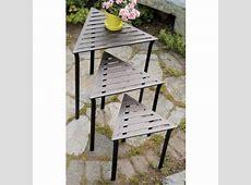 Set of 3 Triangular IndoorOutdoor Nesting Tables #M7953
