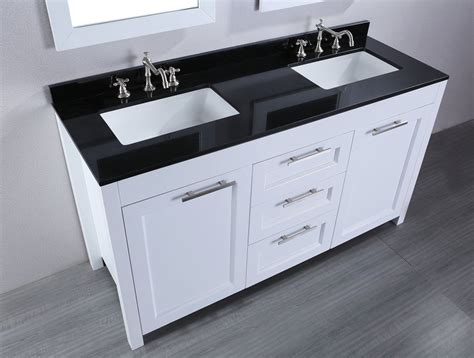 Small White Vanity by Black Top White Vanity Faux Quot Grey Walnut Quot Hardwood