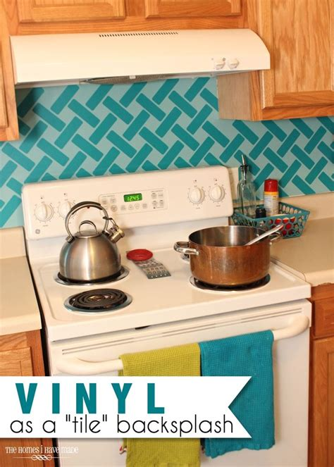 vinyl backsplash kitchen use removable vinyl as a backsplash tile in your 3270