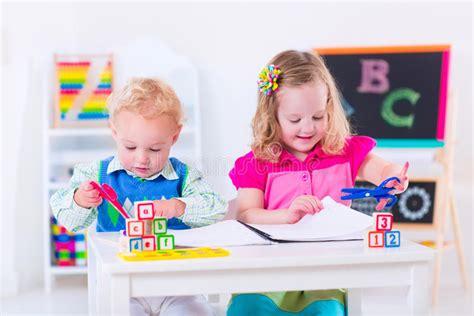 when do children go to preschool happy at preschool painting stock photo image of 959