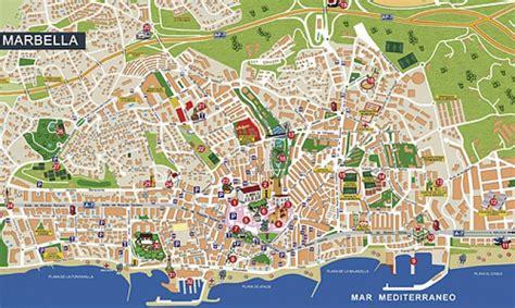 localidades en marbella plano callejero ilustrado de marbella