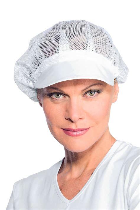 femmes plus cuisine de cuisine femme filet et visiere blanche cuisine