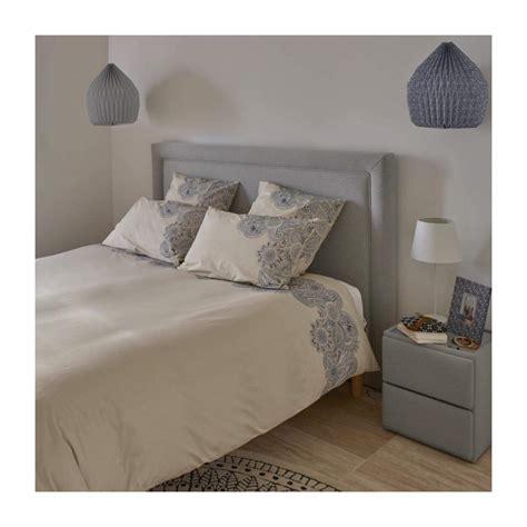 Styles et compositions (coton, polyester, polycoton). Jane - Housse de couette 200x200 bleue - Design by Floriane Jacques - Habitat