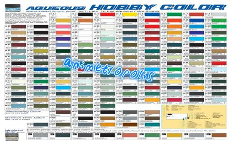 mr hobby gunze aqueous color acrylic h1 h100 colours new