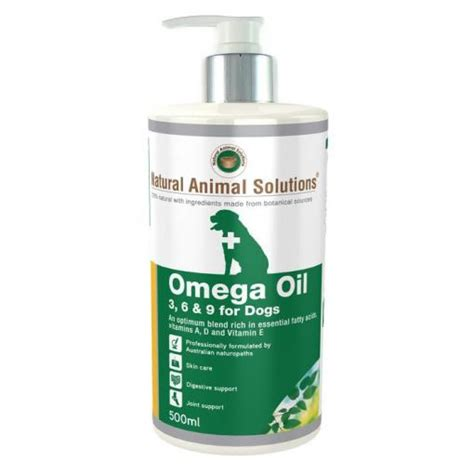 natural animal solutions omega oil     dogs ml