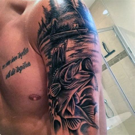 bass tattoo designs  men sea fairing ink ideas