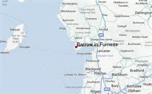 Barrow in Furness UK Map of England
