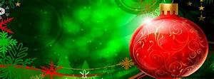 Boule De Noel Verte : boule rouge de no l sur d cor vert photo de couverture facebook ~ Teatrodelosmanantiales.com Idées de Décoration