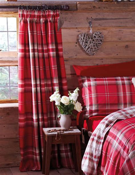 Tartan Plaid Drapes - edinburgh tartan plaid cotton blend 66 quot x 72 quot lined