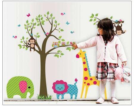 Monkey Owl Tree Butterfly Jungle Wall Stickers Animal Mural