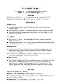 good cv  student resume letter